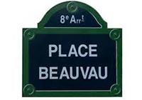 plaque BEAUVAU